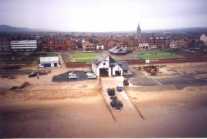The new boathouse from 16th December 2001.