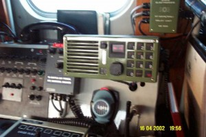 The VHF radio and intercom position
