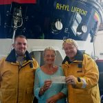 Surprise donation to Rhyl RNLI lifeboat station volunteers