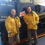 Two Rhyl RNLI volunteer crew members celebrate 50 years on station