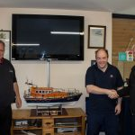 Generous gift of model lifeboat to Rhyl RNLI station