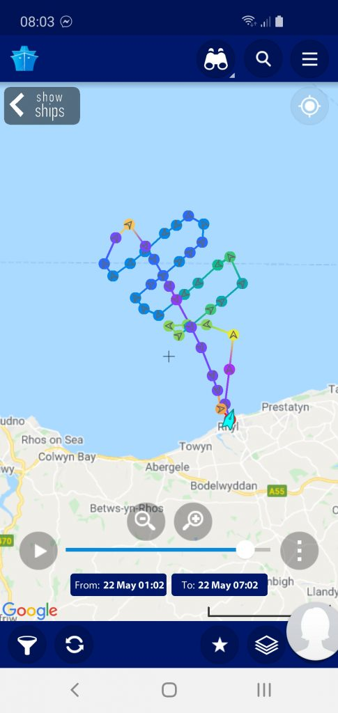 Latest callout for Rhyl RNLI crew