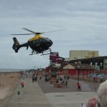 Police helicopter NW1 landing.