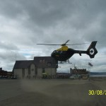 Police Helicopter NW1 lands