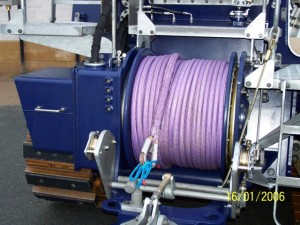 Close-up of winch